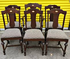 Refinish Dining Chairs Sold Set Of 6 Antique Dining Chairs Solid Wood Refinished Mac S