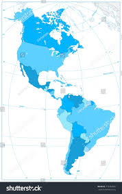 south america map equator south america map colors blue stock vector 713354362