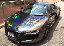 audi r8 chrome blue holographic audi r8 by impressive wrap automotive99 com