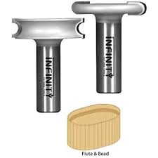 Beadboard Router Bit - freud 99 018 beading router bit for canoe joint with 1 2 inch
