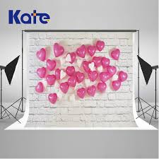 wedding backdrop balloons kate 10x10ft write brick wall wedding photography backdrops pink