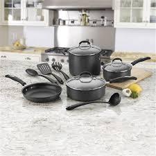 Cuisinart Dishwasher Safe Anodized Cookware Cuisinart 11 Piece Hard Anodized Nonstick Cookware Set Walmart Com