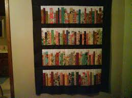 Free Bookshelves Bookcase Quilt Pattern Free Read All About Them Bookshelf