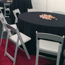 rent round tables near me 60 round tables round black tablecloths white padded folding