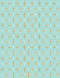 blue retro pattern background of orange and white stars u2014 stock