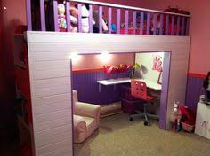 Girls Loft Bed With Desk White Loft Beds For Girls With Desk Underneath At Stores Bunk