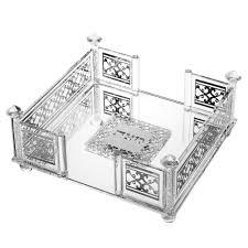 matzah holder square silver matzah holder