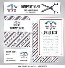 barber shop vector price list template stock vector 377204692