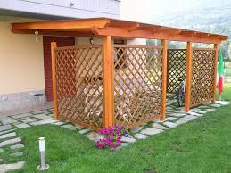 gazebo in legno per auto prezzi pannelli rivestimenti arredamento giardino giunto inox zincato