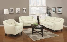 seductive white faux leather sofa set furniture with rising track