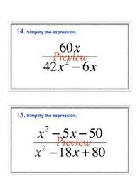 simplifying rational expressions worksheets math aids com