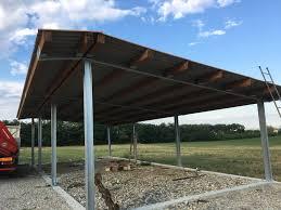 tettoia in ferro foto tettoia in ferro zincato e legno di prometal di veglia diego