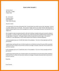 6 outline of cover letter address example