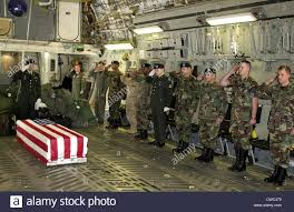 Fallen Officer Flag U S Military Personnel Salute The Flag Draped Coffin Chief Petty