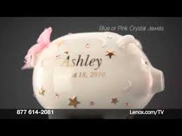 Monogrammed Piggy Bank Lenox Personalized Piggy Bank And Opal Innocence Platter Youtube