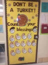 image of thanksgiving door decorations alecia marsh classroom