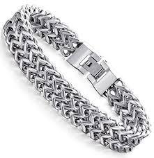 black stainless steel chain bracelet images Fibo steel stainless steel 12mm two strand wheat chain bracelet jpg