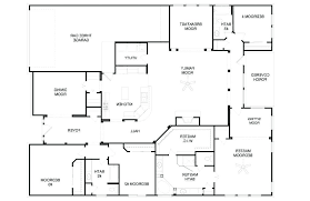 popular house floor plans modern house plans 1 story floor plan 4 bedroom ranch 2 3 simple