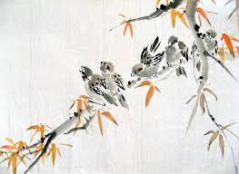 birds on a branch by chinesepaintings on deviantart