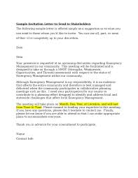 Business Event Invitation Letter by Compudocs Us New Sample Resume