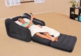 Inflatable Sofa Bed Mattress by Intex Inflatable Pull Out Chair Walmart Com