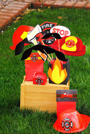 fireman birthday fire fighter party photo booth fireman party