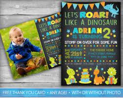 dinosaur invitations etsy