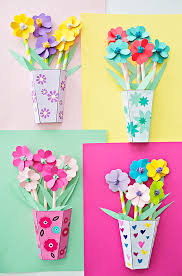 Origami 3d Flower Vase Hello Wonderful How To Make 3d Paper Flower Bouquets With Video
