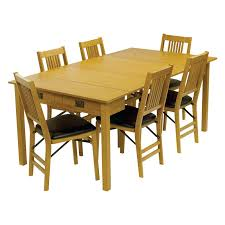Mission Dining Room Chairs by Stakmore Mission Style Expanding Dining Table Hayneedle