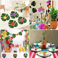 Moana Themed Party 60 Pieces Tropical Luau Hawaiian Table