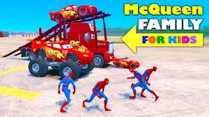 lightning mcqueen monster truck videos wow mcqueen cars family lightning mcqueen mack the truck mini