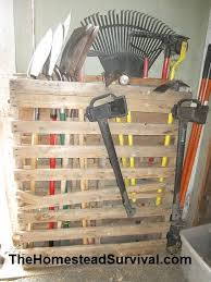 Garage Tool Organizer Rack - pallet tool holder gardening pinterest yard tools tool