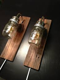Wall Mounted Lamp Rustic Wall Mounted Lighting Rustic Bedside Lamps Made With