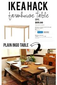 ikea farmhouse table hack ikea hack for dining room table pottery barn imitation home