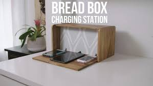 charging shelf station diy breadbox charging station video hgtv