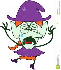 cute halloween witch crying and sobbing stock vector image 45349353