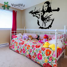 online buy wholesale rocket mural from china rocket mural banksy vinyl wall decal mona lisa rocket launcher home decor sticker davinci paint street art graffiti