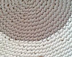 Chunky Wool Rug Knitted Rug Etsy
