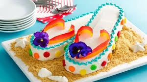 flip flops cake recipe bettycrocker com