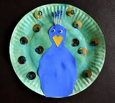 paper plate peacock i heart crafty things