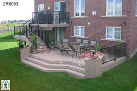 Patio And Deck Ideas Large High Two Level Deck With Planter Boxes 2r6093 This