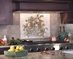 kitchen gorgeous kitchen design ideas with dark brown wood stunning mural tile kitchen backsplash design for kitchen decoration stunning kitchen decoration with orange mural