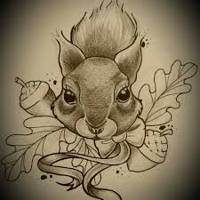 the 25 best squirrel tattoo ideas on pinterest animal drawings