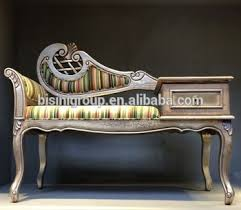 Vintage Chaise Lounge Retro Imperial Style Baroque Striped Chaise Lounge Vintage