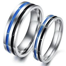 steel promise rings images Couple titanium stainless steel mens ladies promise ring wedding jpg