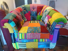 patchwork chair with deep buttoning brighton upholstery