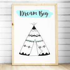 teepee prints nursery u0026 bedroom wall art decor the kids print