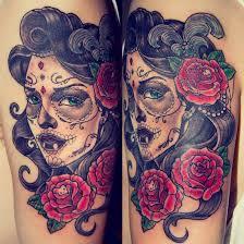 beautiful flowers with nice catrina roses tattoo golfian com