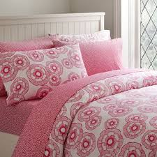 twin bright pink duvet cover pbteen
