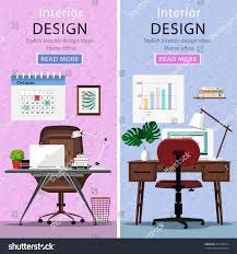 Laptop Desk Chair by Modern Graphic Workplaces Table Office Chair Stock Vector